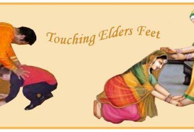 Touching Elders Feet