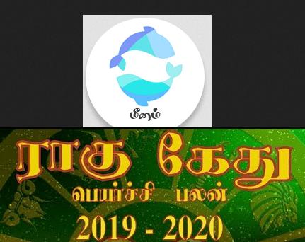 Meenam Rahu Ketu palan 2019