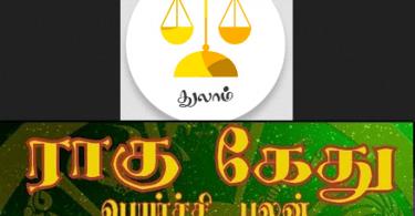 Thulam Rahu Ketu palan 2019