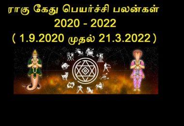 Rahu Ketu Peyarchi 2020