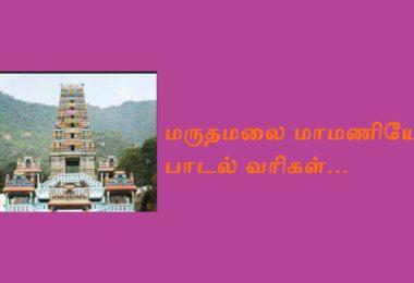 Maruthamalai mamaniye lyrics