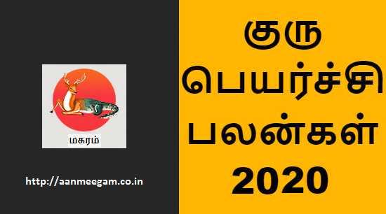 Magaram Guru Peyarchi 2020-21