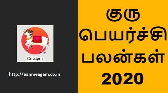 Mesham Guru Peyarchi 2020-21